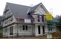 Massivhaus-Rohbau